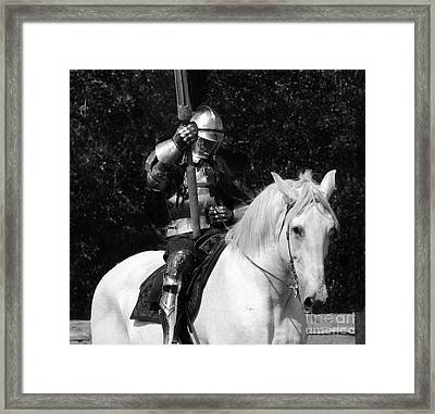 Knights Of Old 14 Framed Print by Bob Christopher
