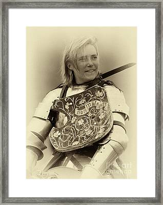 Knights Of Old 17 Framed Print by Bob Christopher