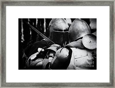Knights Of Old 2 Framed Print by Bob Christopher