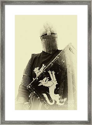 Knights Of Old 5 Framed Print by Bob Christopher