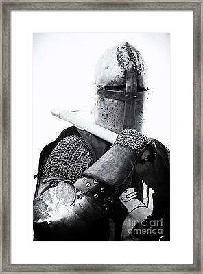 Knights Of Old 6 Framed Print by Bob Christopher