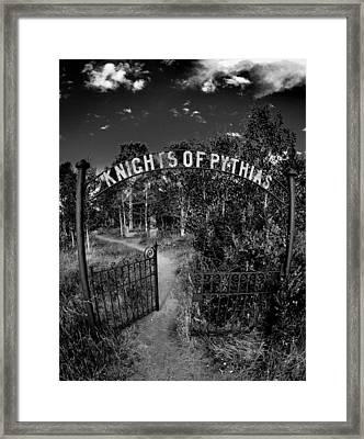 Knights Of Pythias Gate Framed Print by Kevin Munro