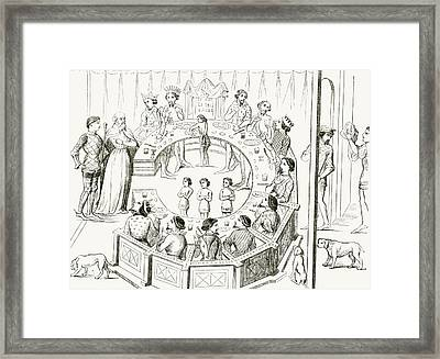 Knights Of The Round Table Framed Print