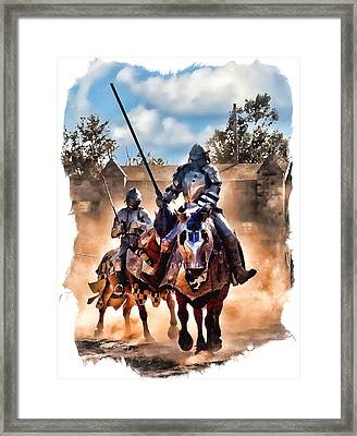 Knights Of Yore Framed Print by Tom Schmidt