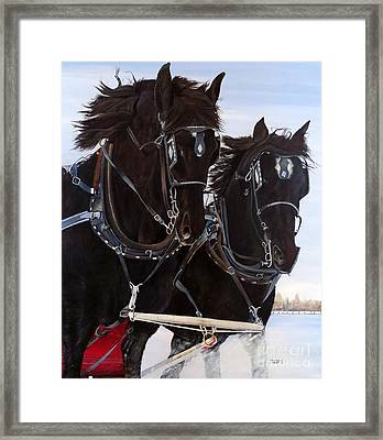 Knights On Four Framed Print by Marilyn McNish