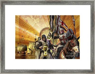 Knights Templar Are On A Mission Framed Print