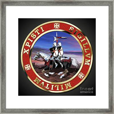 Knights Templar Seal Framed Print by Stephen McKim