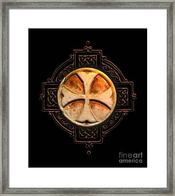 Knights Templar Symbol Re-imagined By Pierre Blanchard Framed Print by Pierre Blanchard