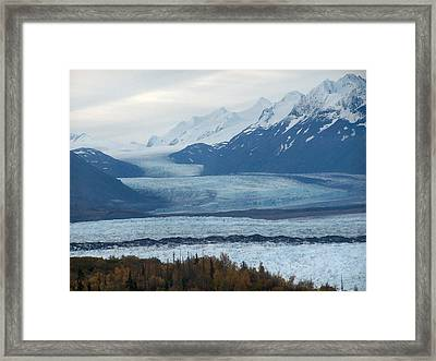 Framed Print featuring the photograph Knik Glacier by Adam Owen