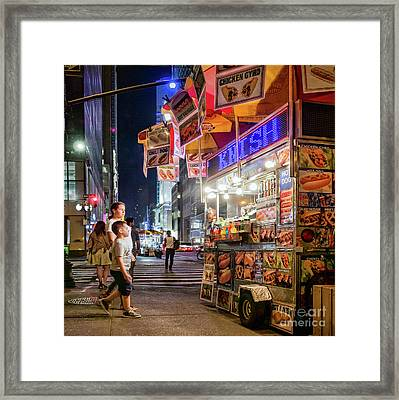 Knish, New York City  -17831-17832-sq Framed Print
