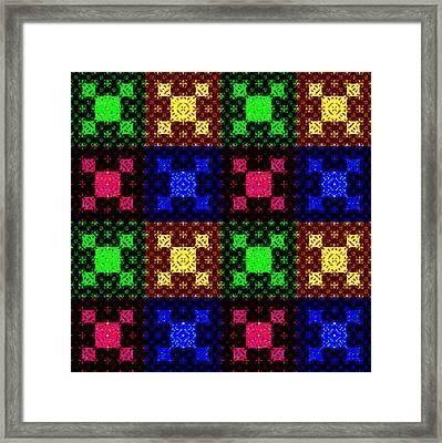 Knitted Geometry Framed Print