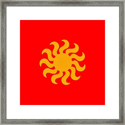 Knitted Sun Framed Print