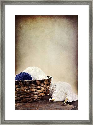 Knitting Supplies Framed Print by Stephanie Frey