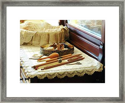 Knitting Supplies Framed Print