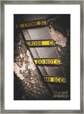Knives And Clues Framed Print