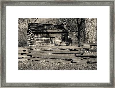Knob Creek Cabin Framed Print