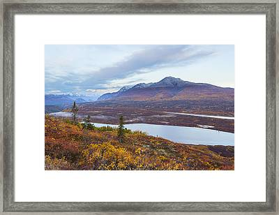Knob Lake In Alaksa Framed Print