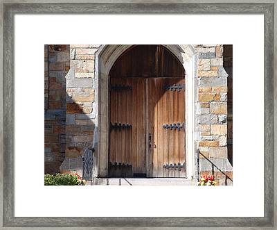 Knock And It Will Open Framed Print by Robyn Leakey