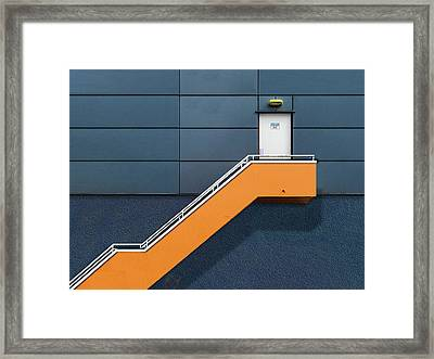 Knock Before Entering Framed Print