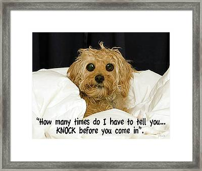 Knock Framed Print