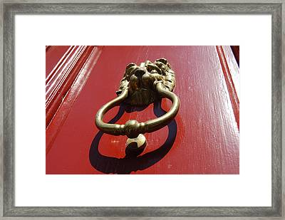 Knock Knock Framed Print by Jennifer Lauren