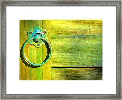Knock On My Door Framed Print by Georgiana Romanovna