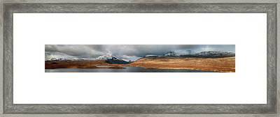 Framed Print featuring the photograph Knockan Crag Mountain View by Grant Glendinning