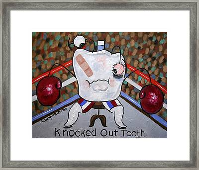 Knocked Out Tooth Framed Print by Anthony Falbo