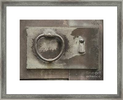 Knocker Framed Print