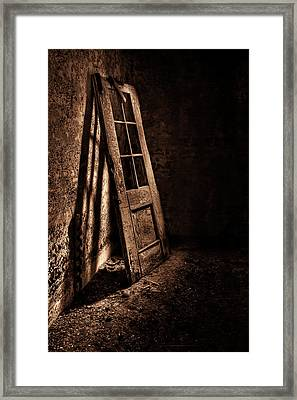 Knockin' At The Wrong Door Framed Print by Evelina Kremsdorf