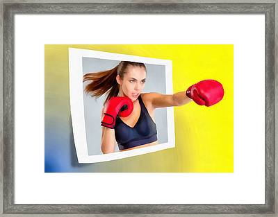 Knockout Framed Print