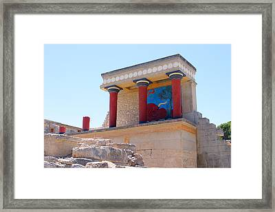 Knossos North Gate View Framed Print