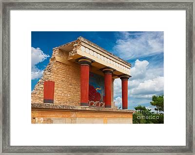 Knossos Palace At Crete, Greece Framed Print