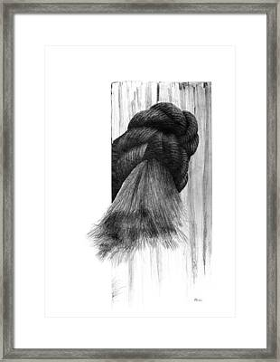 Framed Print featuring the drawing Knot by Brent Ander