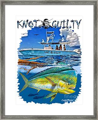 Knot Guilty Framed Print by Carey Chen