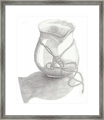 Knots On Vase Study Framed Print