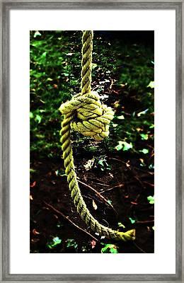 Framed Print featuring the photograph Knott by Cyryn Fyrcyd