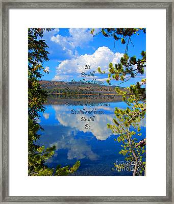 Framed Print featuring the photograph Know I Am by Diane E Berry