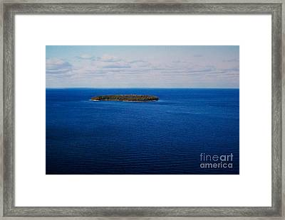 Know Man Is An Island Framed Print by Marsha Heiken