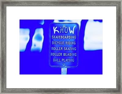 kNOw Rules Framed Print