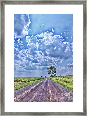 Knowing The Right Way Framed Print