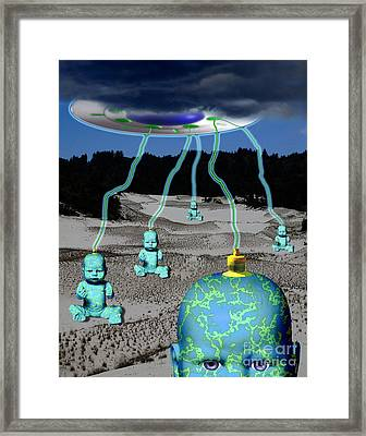 Knowledge From The Gods Framed Print by Keith Dillon