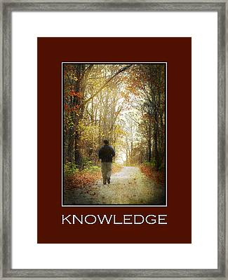 Knowledge Inspirational Motivational Poster Art Framed Print by Christina Rollo