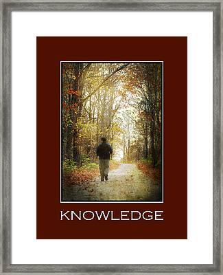 Knowledge Inspirational Motivational Poster Art Framed Print