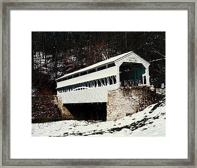 Knox Covered Bridge Historical Place Framed Print