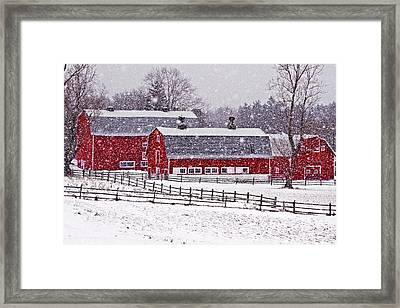 Knox Farm Snowfall Framed Print