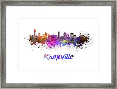 Knoxville Skyline In Watercolor Framed Print