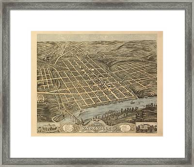 Knoxville Tennessee 1871 Framed Print