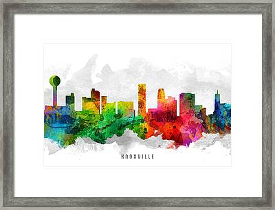 Knoxville Tennessee Cityscape 12 Framed Print