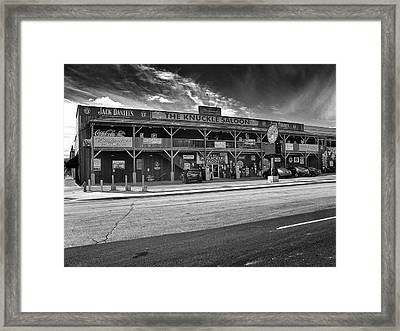 Framed Print featuring the photograph Knuckle Saloon Sturgis by Richard Wiggins